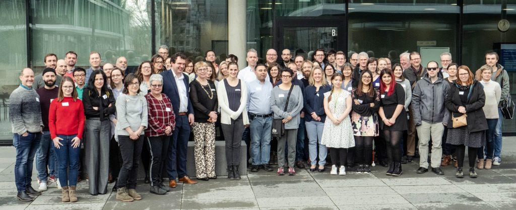 Die über 70 Teilnehmenden des 2. Vernetzungstreffens in Gießen an der THM