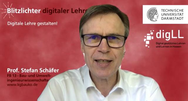 Zu sehen ist das Titelbild des Interviews zu Digitale Lehre gestalten! von Prof. Stefan Schäfer.